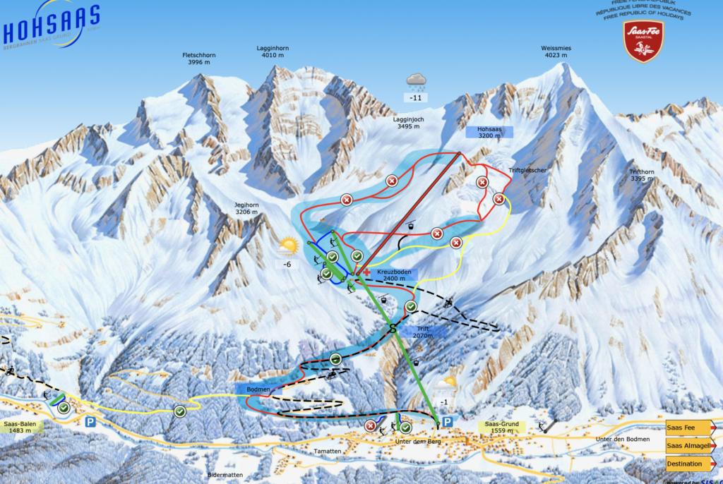 review saas grund ski resort switzerland